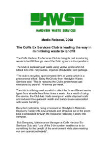 Media Release - Handybin Waste Services