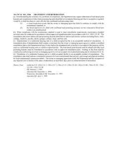 15A NCAC 18A .3106 ABATEMENT AND REMEDIATION (a