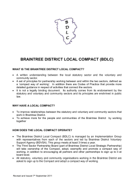 braintree district local compact - Braintree District Voluntary Support