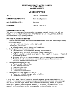 Job Description-Caregiver - Coastal Community Action Program