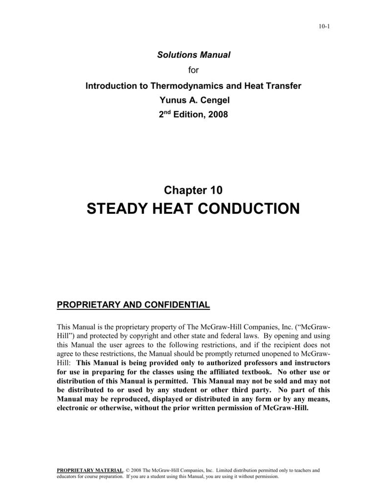 Ebook 1635 Heat Transfer By Cengel 2nd Ed Solution Manual 2019
