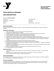 Senior Counselor - YMCA Buffalo Niagara