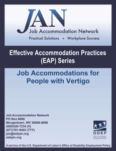 Vertigo - Job Accommodation Network