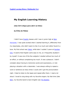 English Learning History Multimedia Text