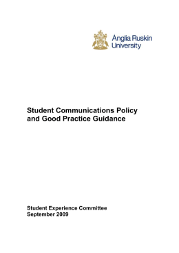 Student Communication Policy