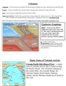 Section 18.1 Volcanism notes