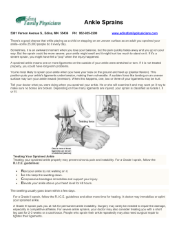 Ankle Sprains - Edina Family Physicians