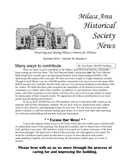 Milaca Area Historical Society