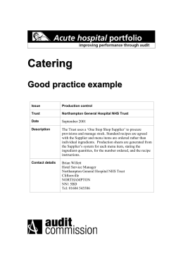 Good practice examples - Hospital Caterers Association