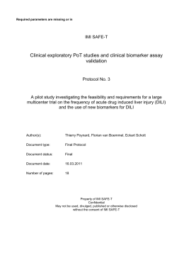 Clinical Pharmacology Protocol Template, Part A