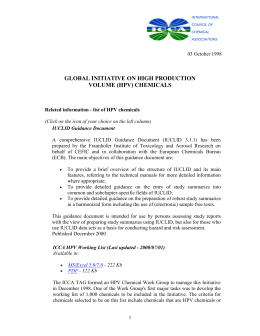 (HPV) Chemicals - International Council of Chemical Associations