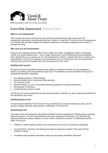 the guidance notes What is a risk assessment?