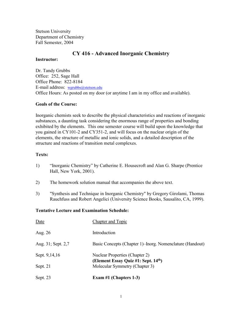 Website für Rabatt Spitzenstil sale Fall Semester, 2004 - Stetson University
