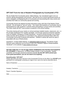 OPT-OUT Form for Publishing of Student Photographs
