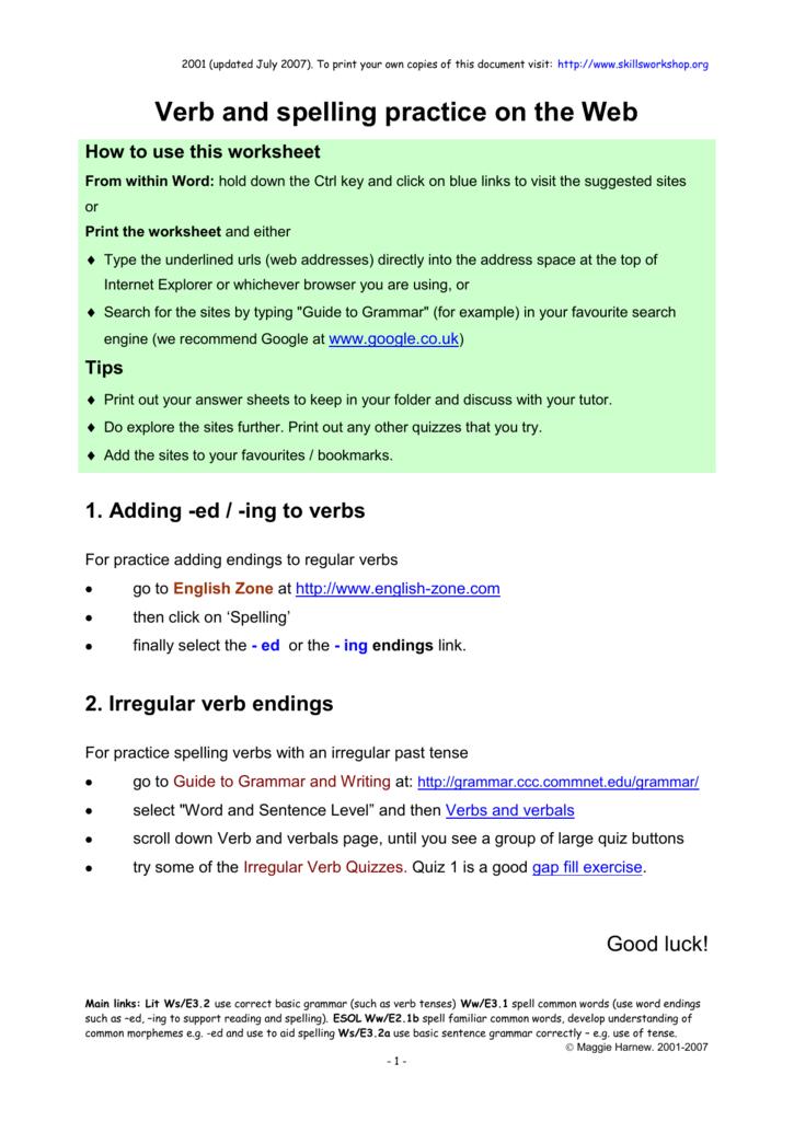 Interactive Web Exercises 1 Eding Endings