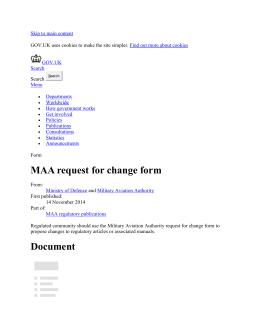 MAA request for change form - Publications
