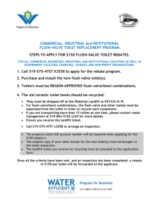 2000 toilet replacement program – steps