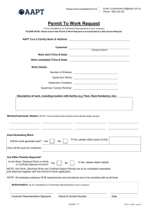 Permit To Work Request Form