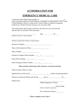 Youth Medical Authorization Form