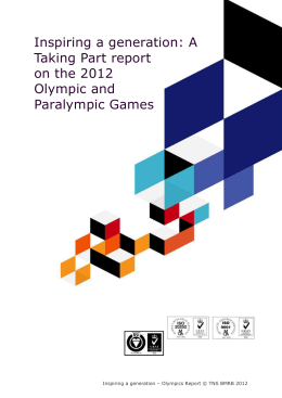 a Taking Part report on the 2012 Olympic and Paralympic