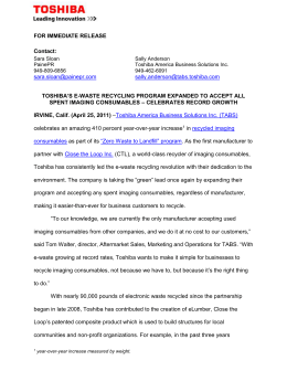 for immediate release - Zoom Imaging Solutions, Inc.