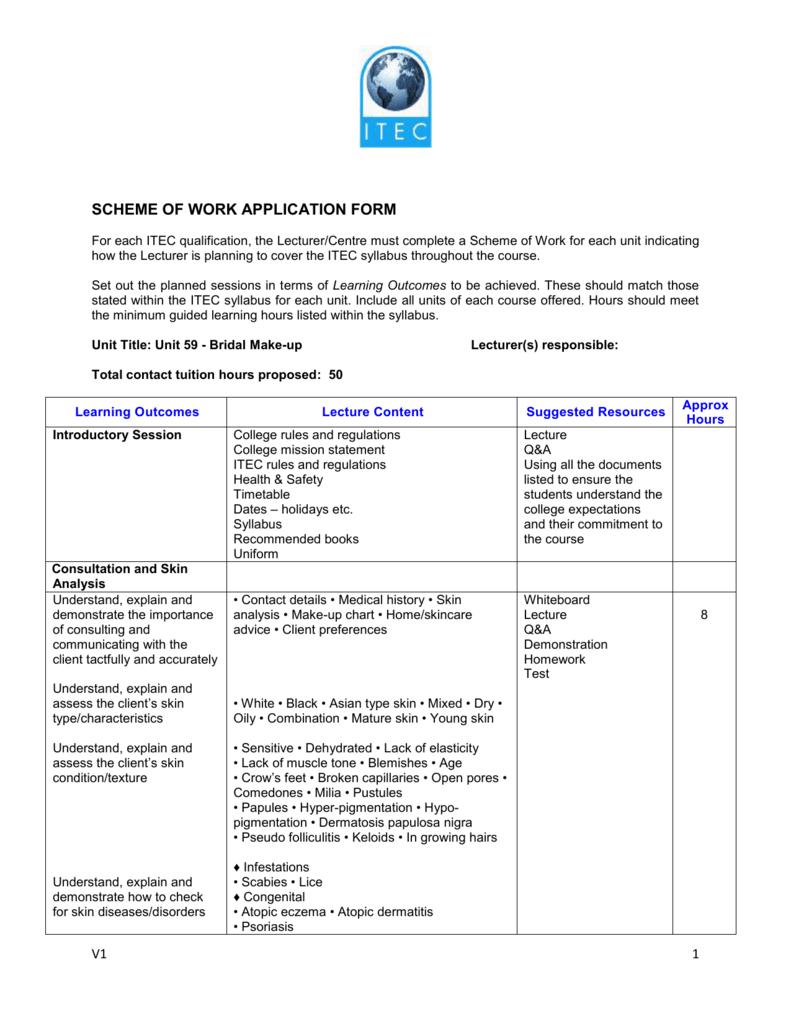 Makeup Consultation Form Itec - Mugeek Vidalondon