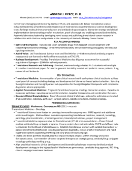 Andrew J. Pierce, Ph.D. -- resume