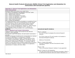 Appendix 4: Clinical Trial Application and Attestation Form Instructions