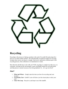 Recycling - Pack 150 Enterprise, Alabama