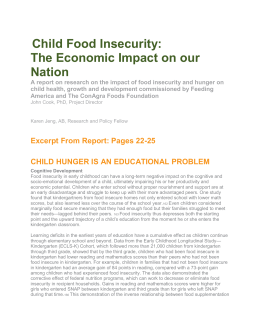 Food Insecurity and Education