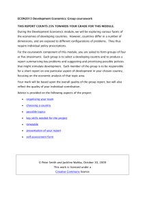 Group coursework - The Economics Network