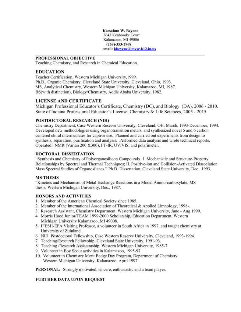 Resume - EZWebSite