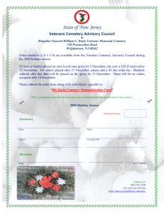 Veterans Cemetery Advisory Council
