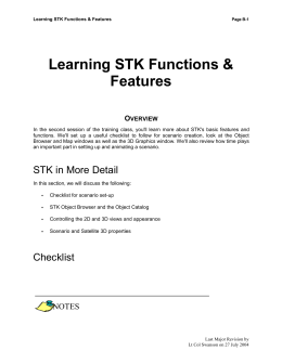 Learning STK Functions & Features - Appendix B
