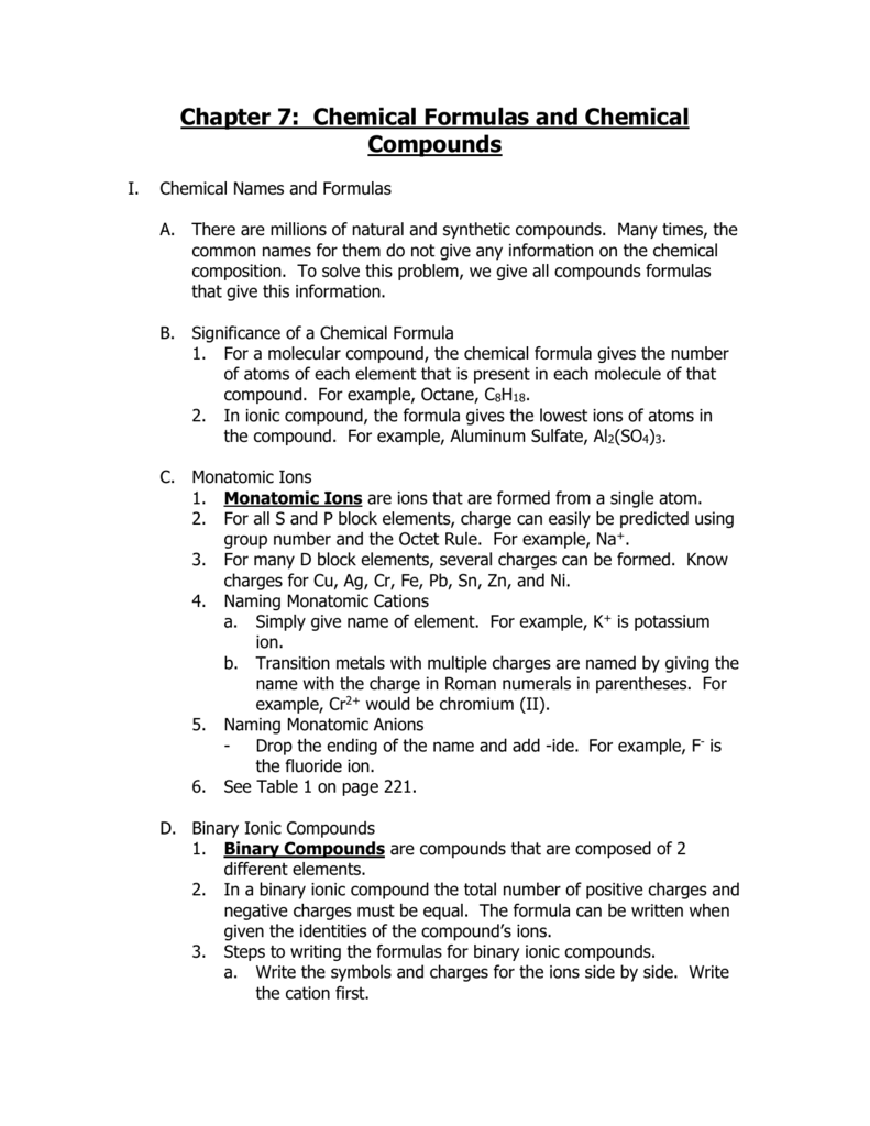 Unit 7 Notes