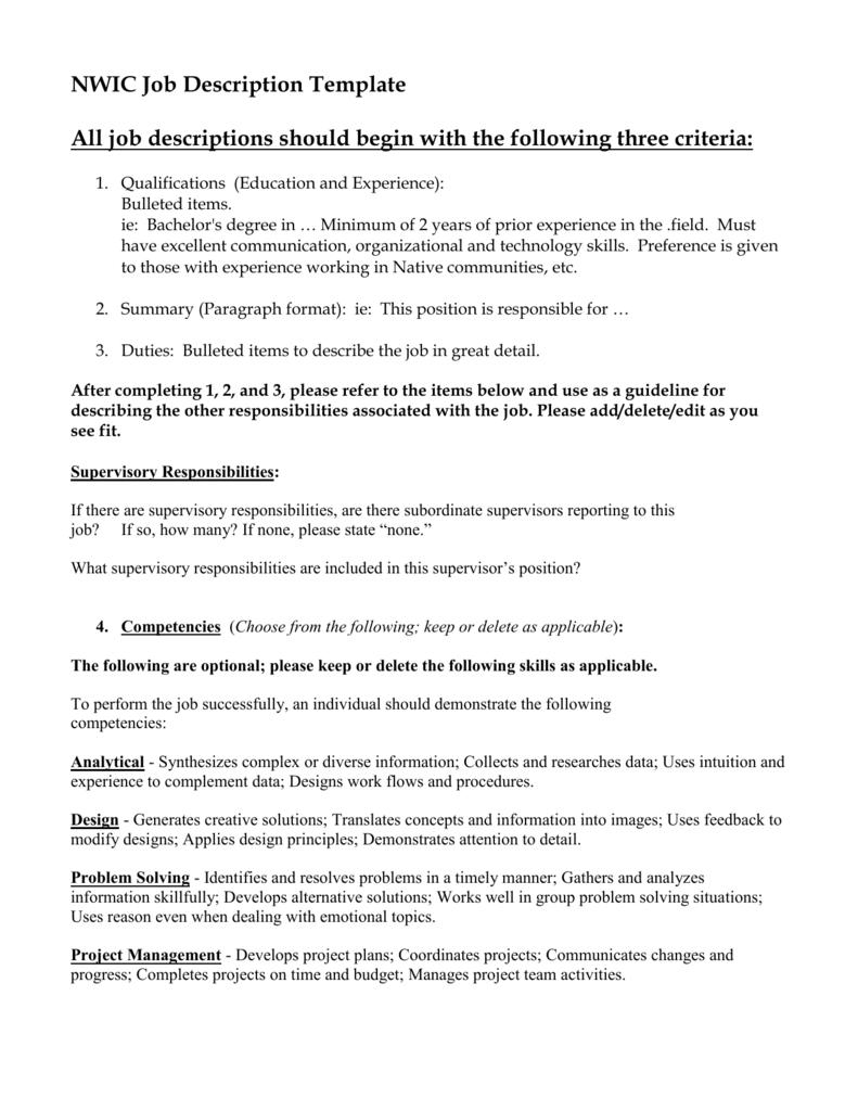Job Summary Template from s3.studylib.net