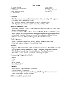 Resume - Penn State Department of Statistics