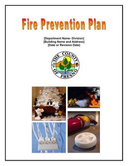 Fire Prevention Plan Template