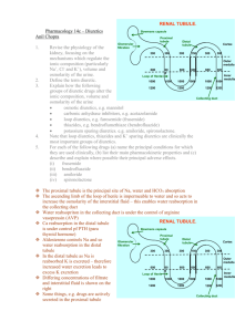 Pharmacology 14c – Diuretics