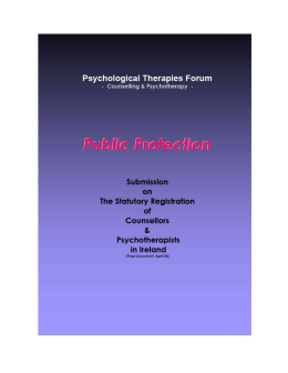 2008 report - Irish Council for Psychotherapy