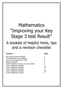 Improving your Key Stage 3 test Result
