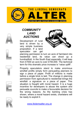 ALTER flyer Community land auctions