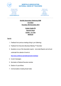 Agenda Norfolk Association 19th November Gathering