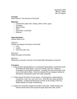 Earth Layers Lesson Plan2 - GK