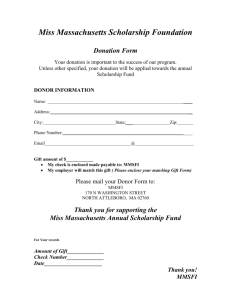 Miss Massachusetts Scholarship Foundation