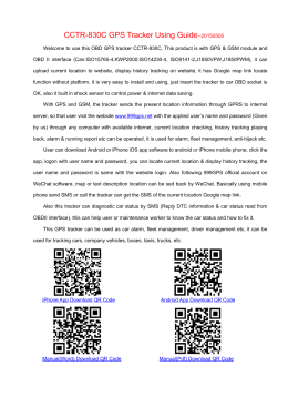 Manual(Word) QR Code - GPS Tracker Website
