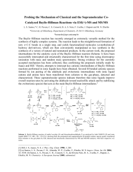 The Baylis–Hillman reaction has recently experienced an enormous