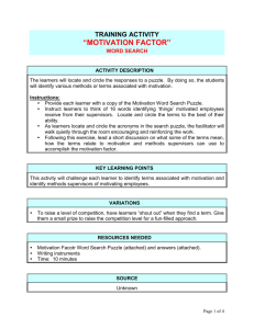 Motivation factor word search