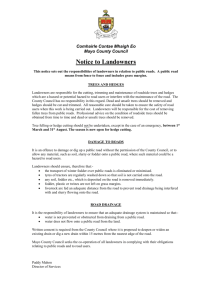 Notice to Landowners (Word-58 kb)