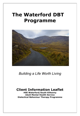 Waterford DBT Programme Information leaflet
